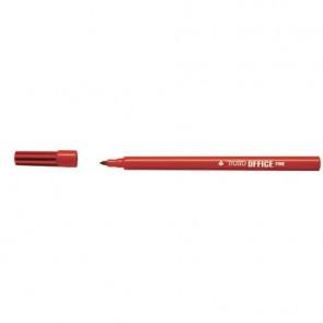 Marcatori punta in fibra TRATTO Office punta conica 0,7 mm rosso Conf. 12 pezzi - 730502