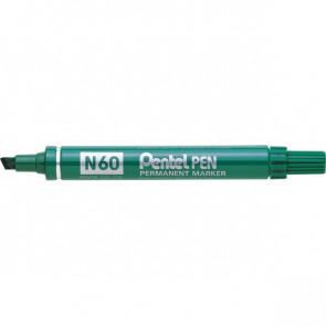 Marcatore permanente Pentel Marcatore N60 verde a scalpello 3,9-5,5 mm N60-D