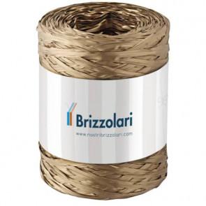 Nastro in rafia sintetica Brizzolari 'Rafia' oro 5 mm x 200 mt - 6802.33