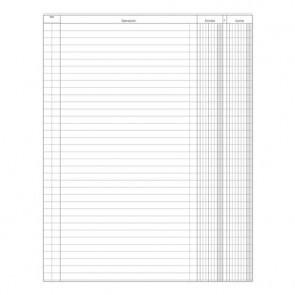 Registro entrate uscite Data Ufficio 100 pagine - 31x24,5 cm DU135800000