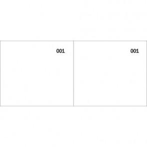 Scontrino colorato a 2 sezioni Data Ufficio blocco 100 copie prenumerate bianco - DU160000010