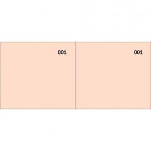Scontrino colorato a 2 sezioni Data Ufficio blocco 100 copie prenumerate rosso - DU160000020