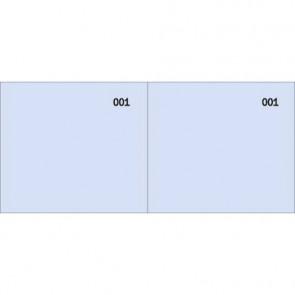 Scontrino colorato a 2 sezioni Data Ufficio blocco 100 copie prenumerate blu - DU160000040
