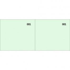 Scontrino colorato a 2 sezioni Data Ufficio blocco 100 copie prenumerate verde - DU160000090