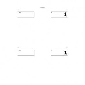 Blocco comande a 2 tagliandi flex 16,8x10 cm 25x2 copie autoricalcanti 161872T00