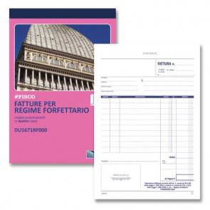 Blocco fatture per regime forfettario data ufficio - 50x2 copie autoricalcanti A5 - DU1671RF000