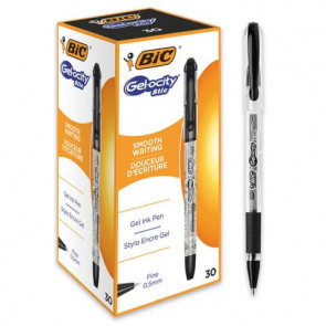 Penna gel con cappuccio BIC Gelocity Stic 0,5 mm nero 968485
