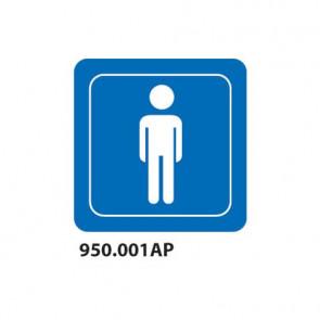 """Cartello indicazione """"Toilette uomo"""" per interni 10x10 cm Dixon Industries conf. 15 pezzi - 950.001AP"""