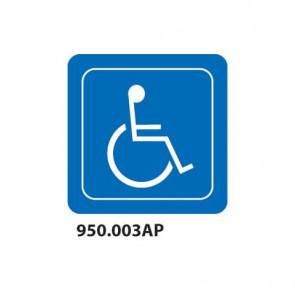 """Cartello per interni """"Toilette disabili"""" Dixon Industries 10x10 cm 950.003P"""