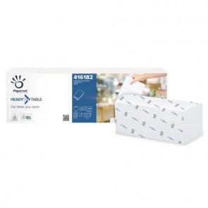 Tovaglioli da bar per dispenser Papernet 32x22 cm piega 1/4 - 2 veli bianco 5 fascette da 110 pz - 416182