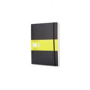 Taccuino a pagina bianca extra large 19x25 cm copertina morbida Moleskine nero - QP623