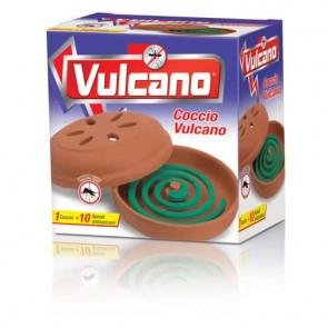 Insetticida zampirone per esterni Vulcano conf. 10 spirali + supporto in coccio - 10580