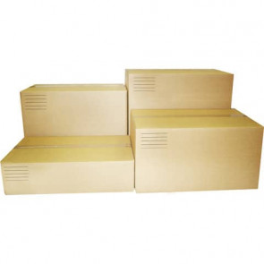 Scatole americane imballo di cartone a 2 onde Euroscatola 400x300x300 mm colore avana - conf. 10 pezzi - 126462