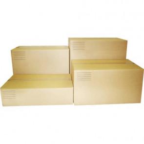 Scatole americane imballo di cartone a 2 onde Euroscatola 600x600x600 mm colore avana - conf. 10 pezzi - 126484