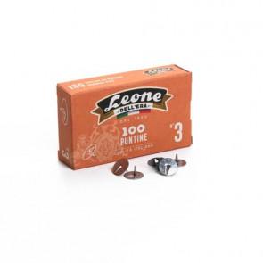 Puntine da disegno in acciaio Leone N? 3 diametro testa 11,5 mm - scatola di cartone da 100 pezzi - PL3