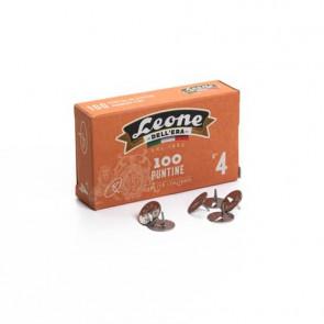 Puntine da disegno in acciaio Leone N? 4 diametro testa 13 mm - scatola di cartone da 100 pezzi - PL4