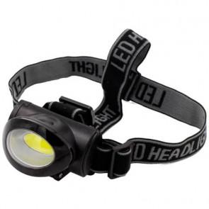 Torcia da testa LED con parabola Discover Head Light Luce quadra nero - protezione IPX4 - EL031