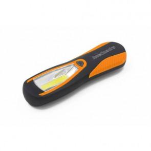 Torcia da lavoro a LED Calamito Large con gancio e magnete grande Luce quadra nero/arancio - EL028