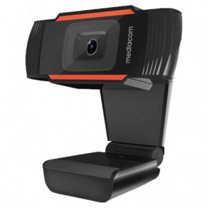 Webcam Mediacom M350 HD 720P nero - risoluzione 1280x720 px - USB 2.0 compatibile Windows e Mac OS - M-WEA350
