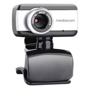 Webcam Mediacom M250 nero/silver risoluzione 640x480 px - USB 2.0 compatibile Windows e Mac OS - M-WEA250