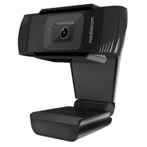 Webcam Mediacom M450 Full HD nero - risoluzione 1920x1080 px -USB 2.0 compatibile Windows e Mac OS - M-WEA450
