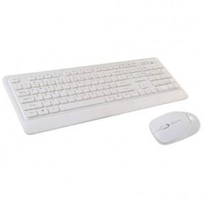Set mouse e tastiera Mediacom Wireless Combo NX971 con tecnologia ottica 2.4 GHz bianco - M-MCK971