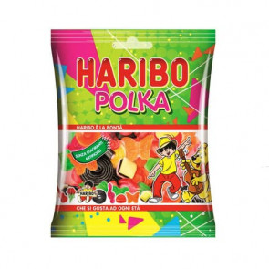 Caramelle Haribo Polka - Busta 100 gr - assortiti liquirizia/frutta - 16504