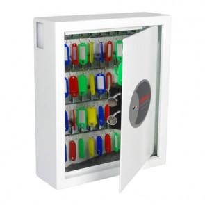 Cassaforte portachiavi 48 ganci Security Italia Cygnus bianco serratura a chiave bianco - KS0032K