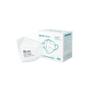 Mascherine monouso FFP2 bianche - Certificazione CE 0598 - Scatola da 20 pezzi, singolarmente imbustati