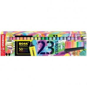 Desk set evidenziatori Stabilo Boss? Original 2-5 mm colori assortiti - Conf. 23 pezzi - 7023-01-5