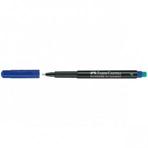 Marcatore permanente Multimark Faber Castell Punta media blu 1,0 mm 152551