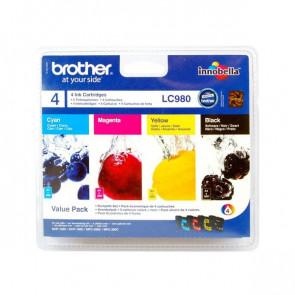 Originale Brother LC-980VALBP Conf. 4 cartucce inkjet blister SERIE 980 nero+ciano+magenta+giallo
