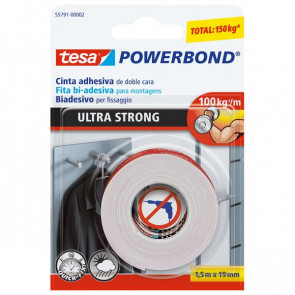 Tesa biadesivo Ultrastrong Powerbond 19 mm x 1,5 m 55791-00002-00
