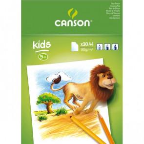 Blocchi da disegno per bambini Canson A4 90g bianco 30 400015583