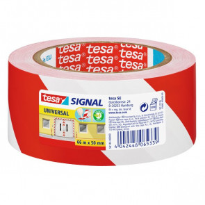 Nastro segnaletico Tesa bianco/rosso 50mmx66m 58134-00000-00