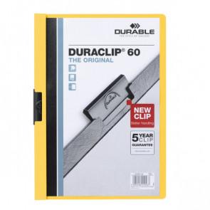 Cartellina Duraclip Durable 3mm Capacità 30 fogli giallo 2200-04