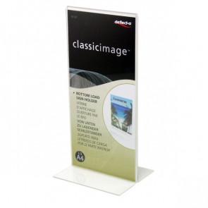 Portabrochure con base a T Deflecto 1/3 A4 10x0,5x21,5 cm 45101