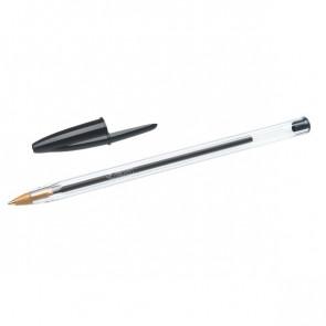 Penna a sfera Cristal® Bic Medium Classic nero 1 mm 8373639 (conf.50)
