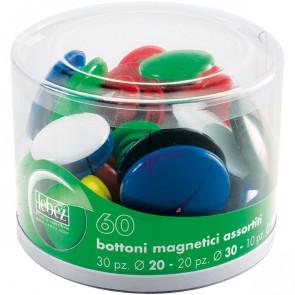 Bottoni magnetici Lebez assortiti assortiti 2777 (conf.60)