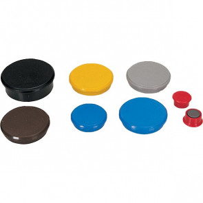 Magneti per lavagne Dahle ø 24 mm nero R955249 (conf.10)