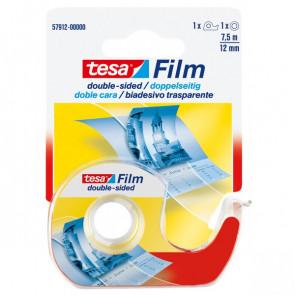 Nastro biadesivo trasparente tesafilm Tesa Chiocciola con lama in metallo 12 mm x 7,5 m 57912