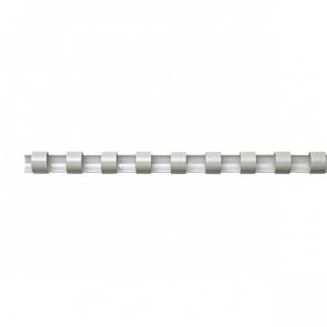 Dorsi plastici a 21 anelli Fellowes 10 mm 55 fogli bianco 5345805 (conf.100)