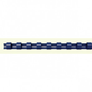Dorsi plastici a 21 anelli Fellowes 10 mm 55 fogli blu 5345906 (conf.100)