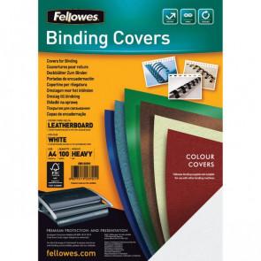 Copertine in cartoncino per rilegatura Fellowes A4 goffrato 250 my bianco 5370104 (conf.100)