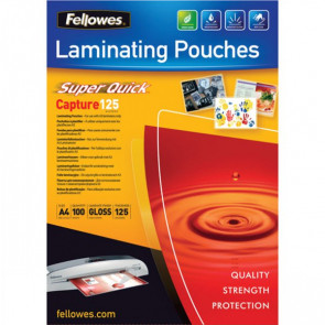 Pouches SuperQuick Fellowes 125 my 5440101 (conf.100)