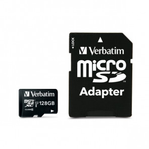Flash memory card Verbatim Micro SDHC Class 10 128 GB 44085