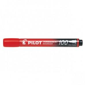 Marcatore permanente SCA 100 Pilot punta tonda 1 mm rosso 002707 (conf.12)