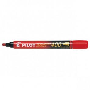 Marcatore permanente SCA 400 Pilot punta a scalpello 4 mm rosso 002712 (conf.12)