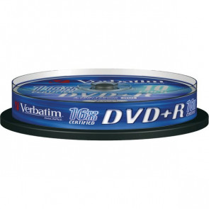 DVD Verbatim  DVD+R 4,7 Gb 16x Spindle 43498 (conf.10)