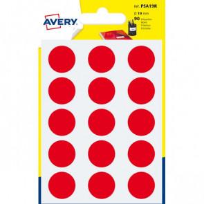 Etichette rotonde in bustina Avery rosso diam. 19 mm 15 PSA19R (conf.6)